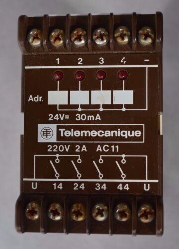 Telemecanique Ausgangsrelaisblock SG3 ARB 0101 24V - 4Schlieser 220V 2A 6.025