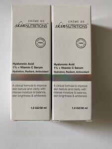 2 x Skin Nutritions Hyaluronic Acid 1% + Vitamin C Serum 1oz(30ml) All SkinTypes