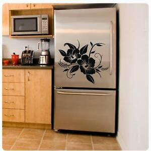 Hibiskus Blumen Kühlschrank Aufkleber Wandtattoo Küche Bad