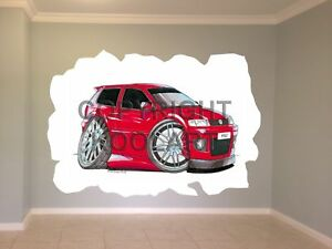 Huge-Koolart-Cartoon-Vw-Polo-Wall-Sticker-Poster-Mural-1418