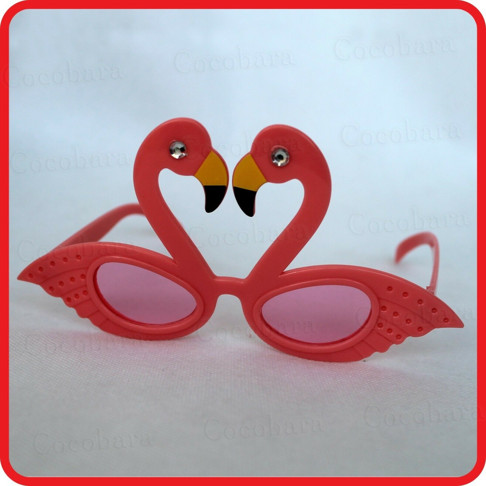 FLAMINGO BIRD SWAN GLASSES SUNGLASSES-TROPICAL HOLIDAY-COSTUME -PARTY-DRESS UP