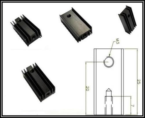 20Stk to-220 Heat Sink TO220 20x13x9mm IC Kühlkörper Aluminium HK