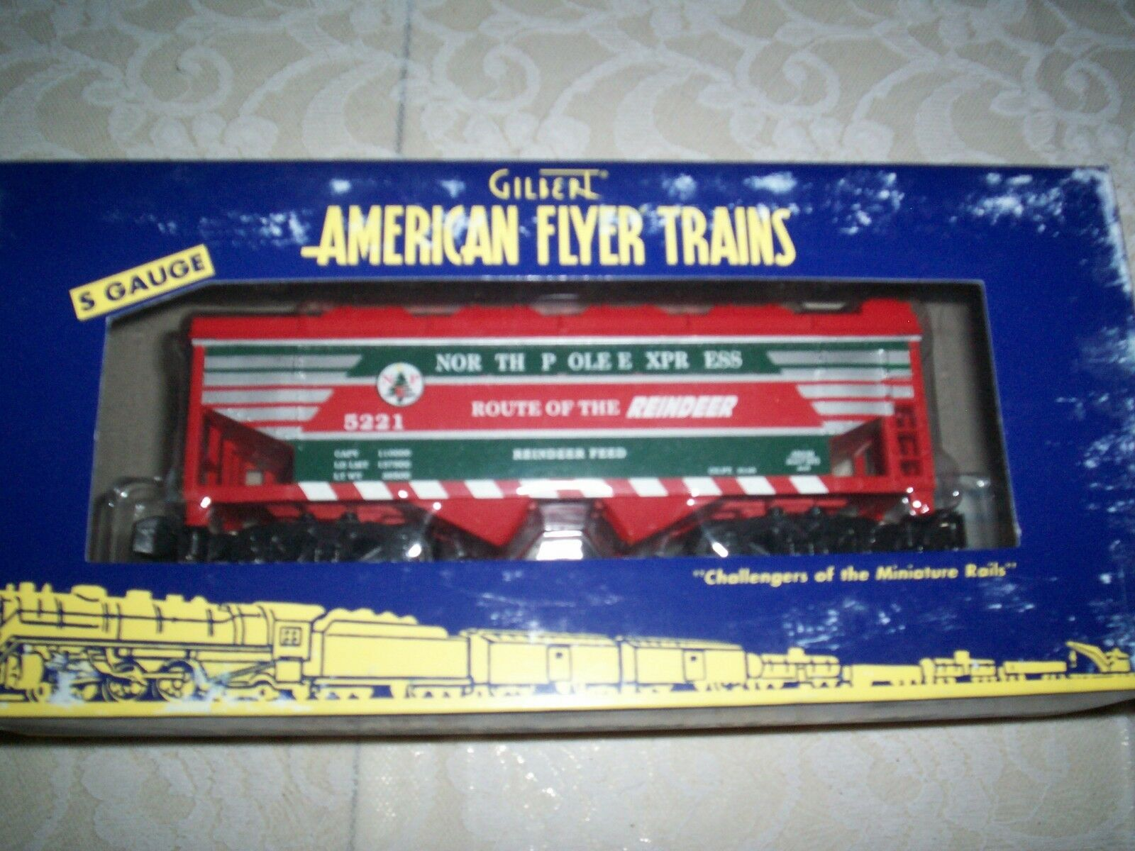 American Flyer  48638 Route Of The Reindeer  5221 Coverosso  Hopper Car