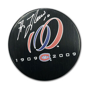 Guy-Lafleur-Signed-Canadiens-Centennial-Puck-1909-to-2009-Montreal-100-Seasons