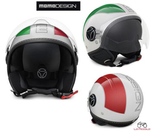 MOMO DESIGN CASCO DEMI JET AVIO PRO ITALIA BIANCO VERDE ROSSO MISURA S 56 CM
