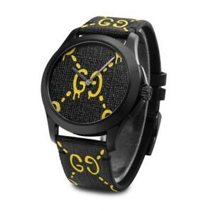 74448d3def0 GUCCI YA1264019 GHOST G-Timeless 38mm Rubber Band Watch FedEx Ship ...