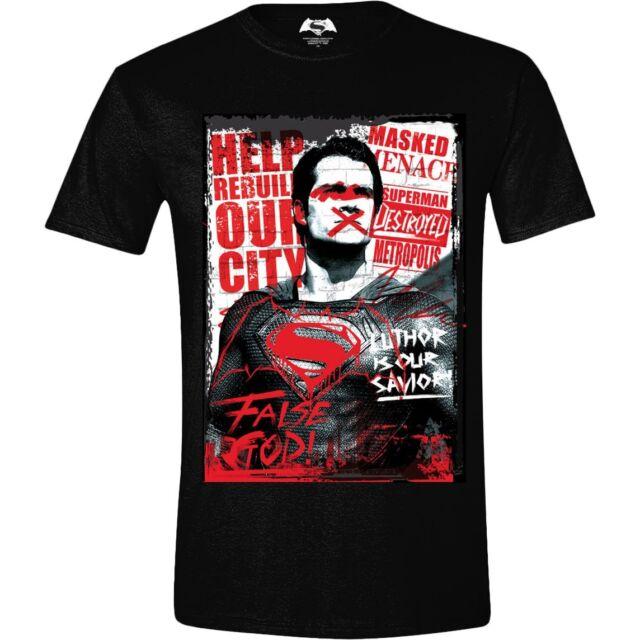 T-shirt Batman v Superman - Superman False God Poster maglia Uomo ufficiale DC