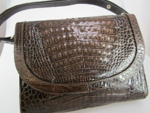 Echte Krokotasche Handtasche aus Croco  Krokoledertasche  Croco Vintage TK3V-06