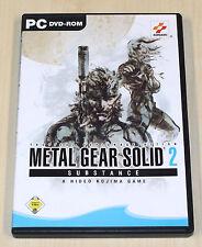METAL GEAR SOLID 2 - SUBSTANCE - PC SPIEL - DVD HÜLLE MIT HANDBUCH