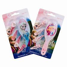 2x Pack of Disney Frozen Princess Elsa & Anna Childrens Kids Hair Brush Clips