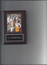 GUNSMOKE PLAQUE TV CAST WESTERN DOC MISS KITTY MATT DILLON