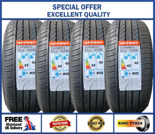 4 x 215//60R16 APTANY 95H  BRAND NEW QUALITY TYRE/'S 2156016 LOW PRICES 4 TYRES