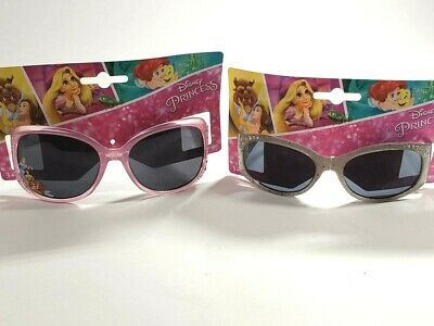 Lot of 2 prs Kids Disney Sunglasses Silver Princess and Purple Fairy Set  NEW!