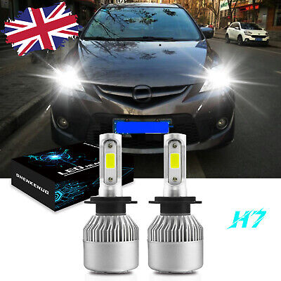 For Mazda 5 2005 Onwards 2x H7 Headlight Kit Car Led Bulbs Pure White 6500k Ebay