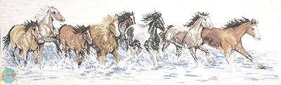 Cross Stitch Kit ~ Design Works Splashdown Horses Galloping in the Waves #DW2499