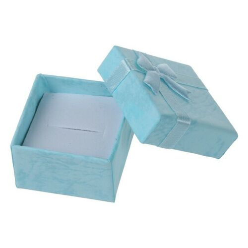 24 Stück Ring Ohrring Schmuck Display Geschenk Box Schleife Quadratisch Kas N385