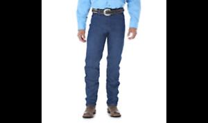 WRANGLER-Mens-Cowboy-Cut-Rigid-Original-Fit-Dark-Wash-Blue-Denim-Jeans-13MWZ-NWT