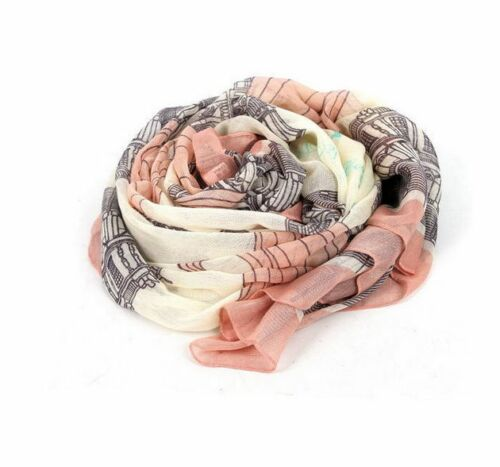 Women Floral Printed Scarf Neck Wrap Ladies Chiffon Shawl Scarf Daily Holiday UK