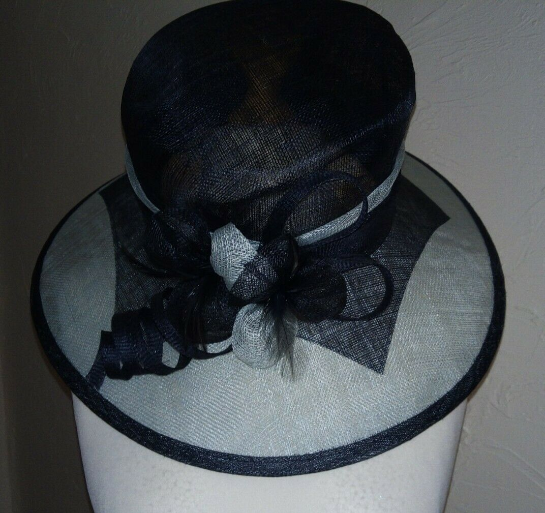 **NEW** 'Classic Millinery' 2 tone blue Hat *wedding/races/occasion*