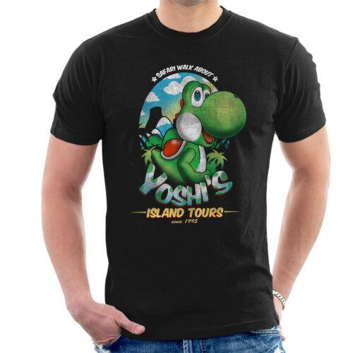 Super Mario Yoshis Island Tours Men/'s T-Shirt
