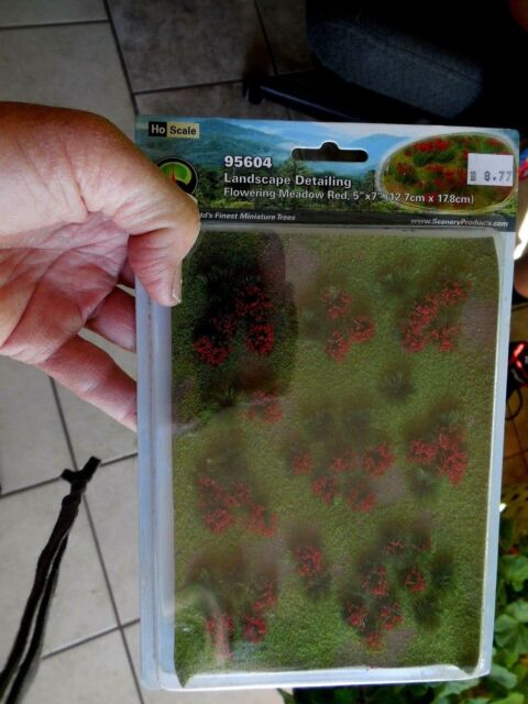"MRC JTT Landscape Detailing Flowering Meadow Red 5"" x 7"" #95604 new scenery HO"