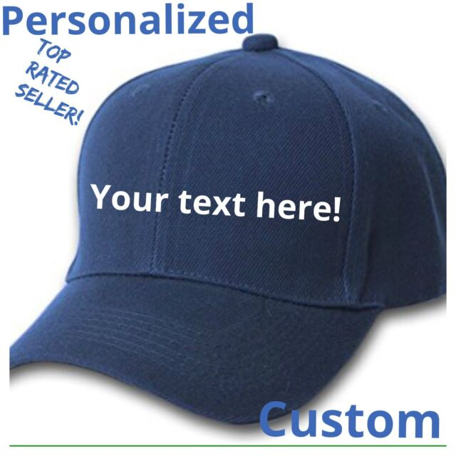 f17eda45f Custom Personalized Dark Navy Blue Baseball Hats Caps Embroidered