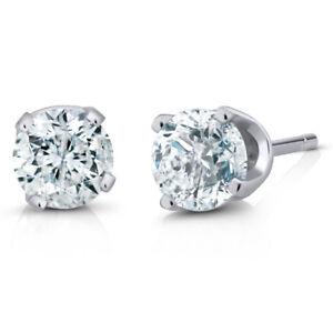 IGI-Certified-1-2-cttw-K-L-I1-I2-14K-White-Gold-Diamond-Stud-Earrings