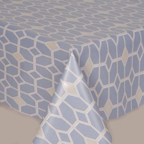 Diamond Light Bleu Ciel Blanc Beige en Plastique PVC huile Vinyle Table Housse en tissu DP