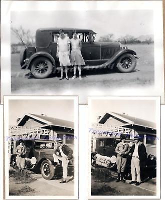 Women & Man with 1925-1926 Auburn 8-88 / 6-66 Sedan Car Automobile ...