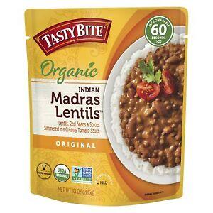 Tasty Bite Indian Madras Lentils, Microwaveable Ready to Eat Entrée, 10 Ounce...