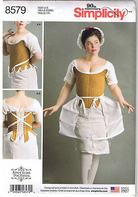 18th Century Scottish Highlander Corset Shift Pannier Sewing Pattern 4 6 8 10 12 Crazy Prijs