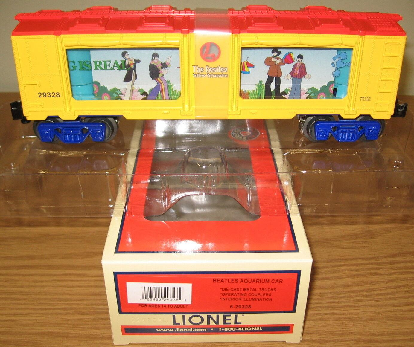 LIONEL 29328 BEATLES NOTHING IS REAL AQUARIUM O GAUGE TRAIN CAR YELLOW SUBMARINE