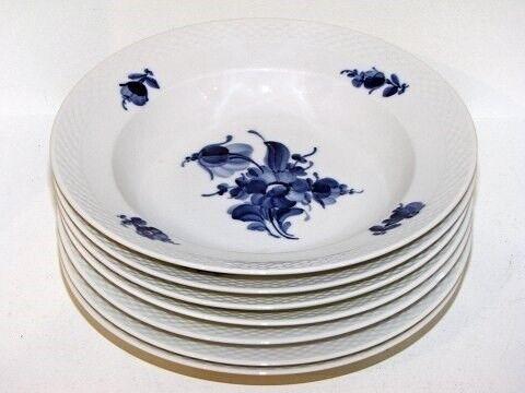 Porcelæn, Blå Blomst Flettet  Lille dyb tallerken 21
