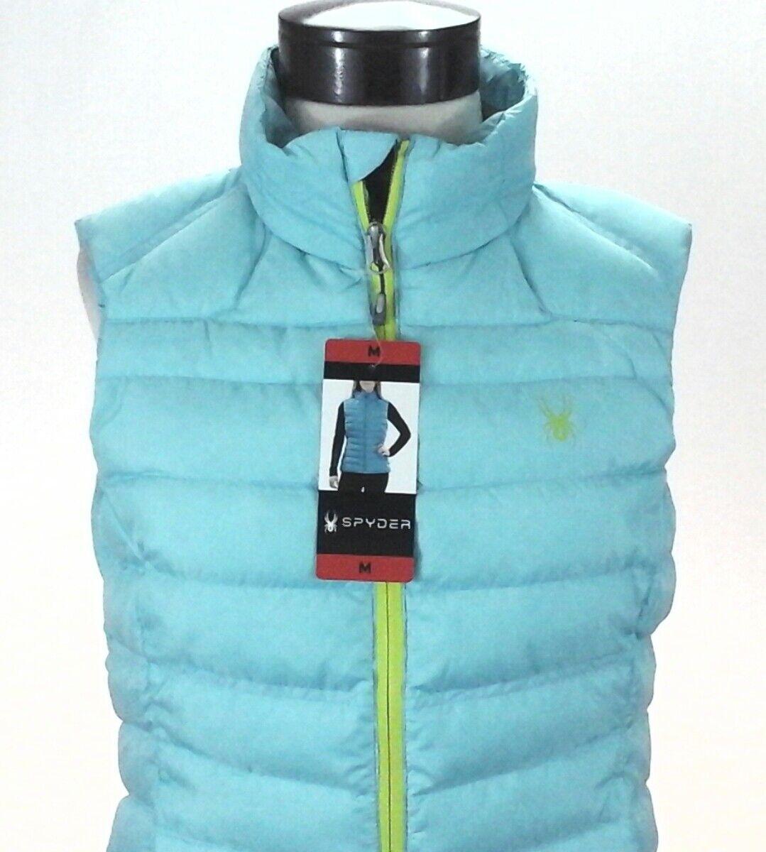 SPYDER Puffer Vest Snowboard Ski Winter Prymo Down Down Down bluee Logo 1143937 Womens New 00dadf