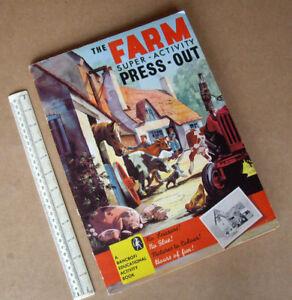 1965-Vintage-Bancroft-London-034-The-Farm-Super-Activity-Press-Out-034-Model-Book