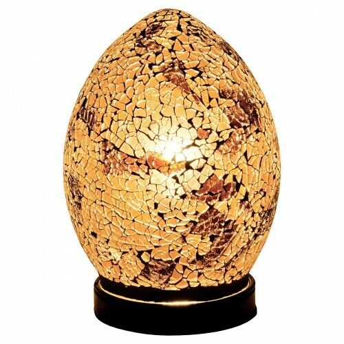 77GA Golden Mini Mosaic Glass Egg Lamp