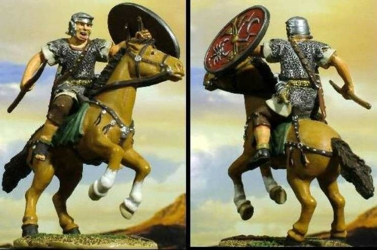 conte LTD. PEWTER ROMAN EMPUIRE SPQR004 MONTERAD CAVALRYMAN MIB