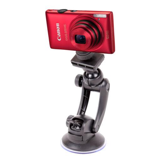 Cámara Digital ventana de coch Soporte//montaje de la succión se ajusta Canon IXUS 125 HS /& SX 260