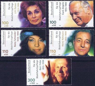 Preiswert Kaufen Brd 2000: Schauspieler! Wohlfahrtmarken Nr. 2143-2147, Postfrisch! 1906