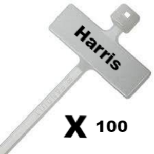 Black Marker Cable Ties Write On Labels Flags Wire Power Tags Marks Cord