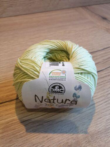 0012-Verde claro-Bolas de 50g-varios lotes de tinte DMC Natura sólo Algodón 4ply