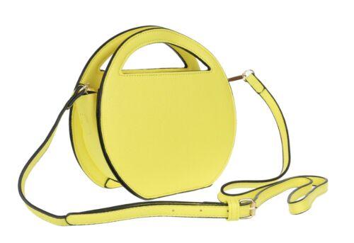 Ladies Plain Round Shape Shoulder Bag Top Zipped Casual Handbag Strap Night Out