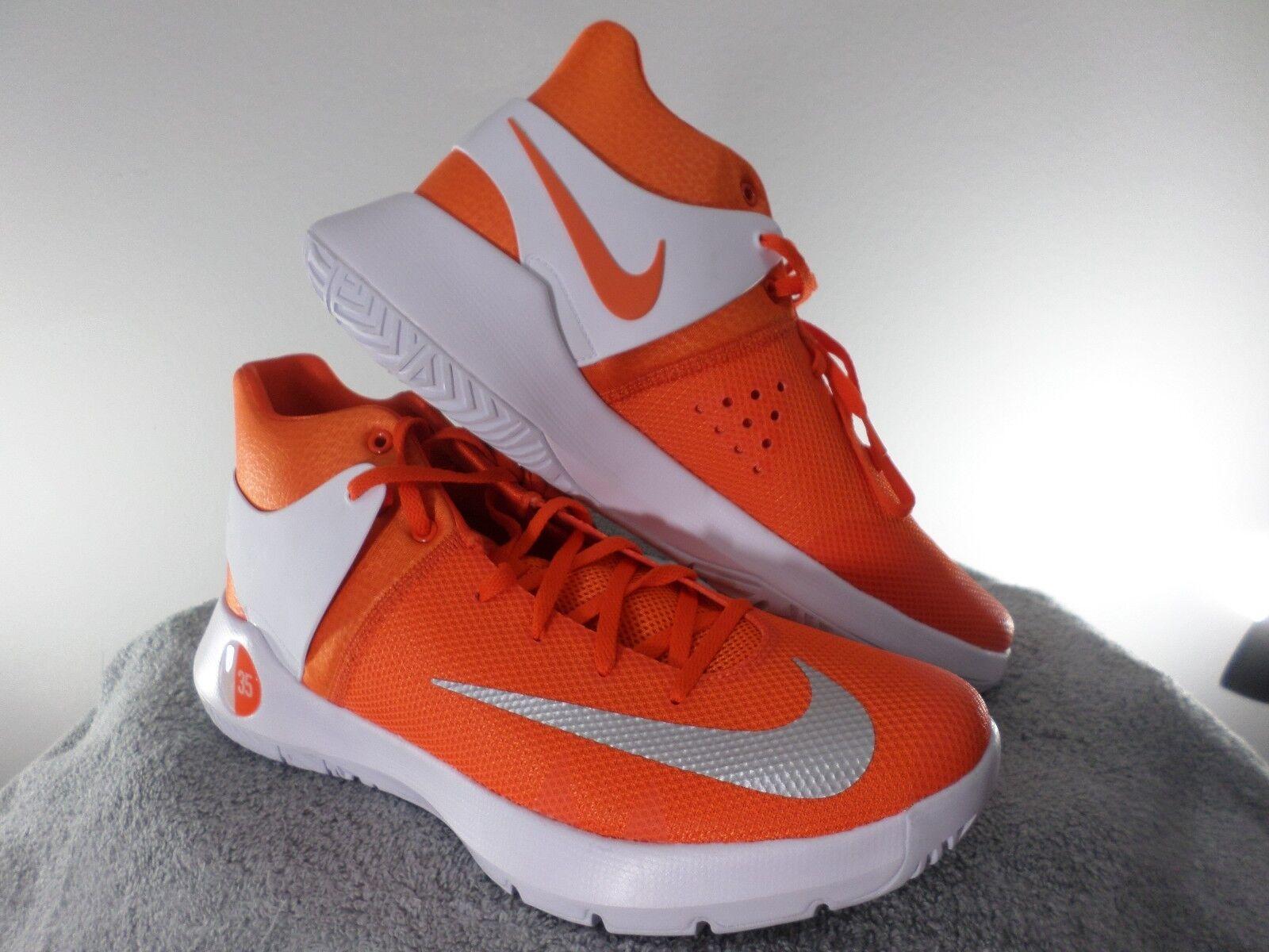 Nike KD Kevin Durant Basketball Shoes Orange White 856484-883 USA Men's Size 12