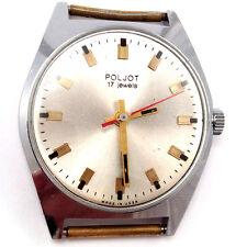 Vintage soviet Poljot wrist watch, Classic Silver Dial, chromed case USSR #399