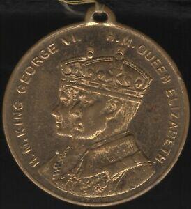 1937-George-VI-amp-Queen-Elizabeth-Coronation-Medal-West-Hartlepool-Pennies2Pounds