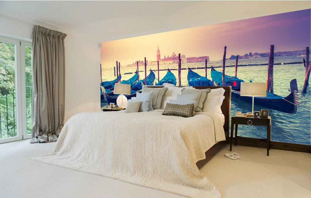 3D Boat Lake 4075 Wallpaper Murals Wall Print Wallpaper Mural AJ WALL UK Carly