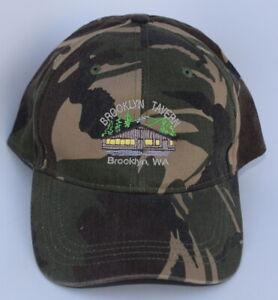 Details about BROOKLYN TAVERN Brooklyn WA HOME OF SNOOSE CREEK Camo  Baseball Cap Hat One Size e6b26efeaf5e