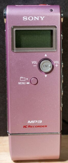 Sony ICD-UX70 1024 MB 4.5 Hours Handheld Digital IC Voice MP3 IC Recorder Pink