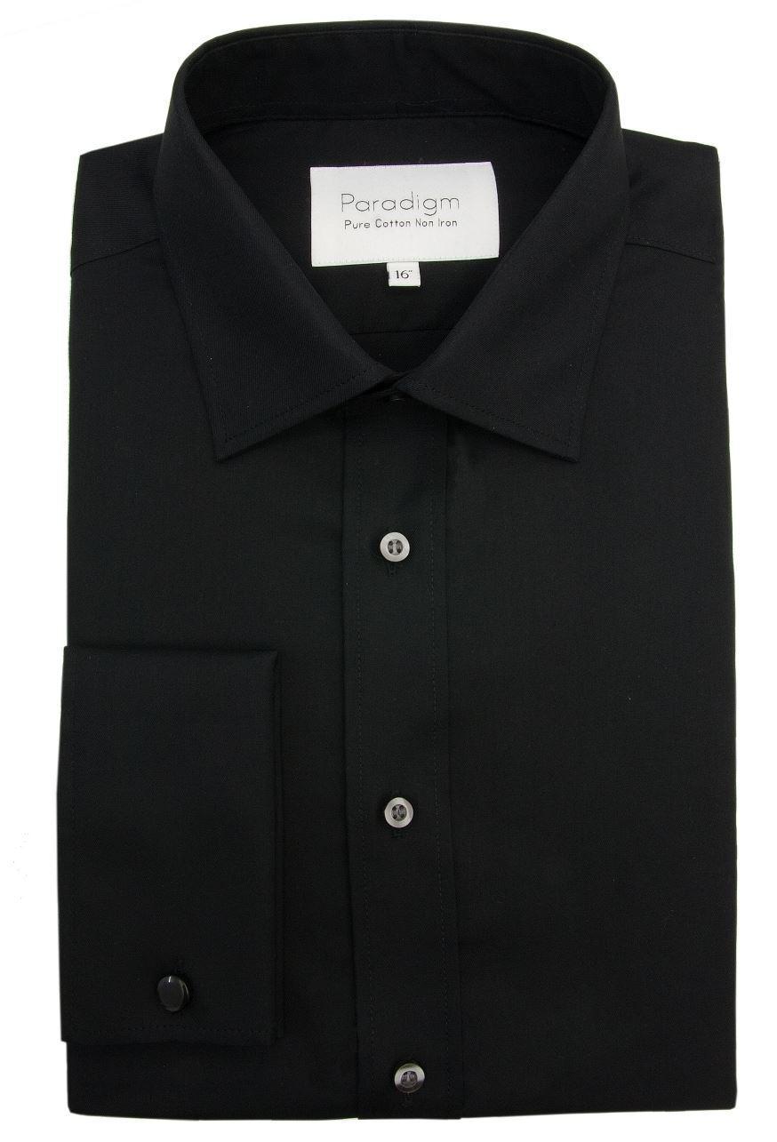 Paradigm herren Doppio Bracciale Puro Cotone Non Stirabile Formale Camicie (8501