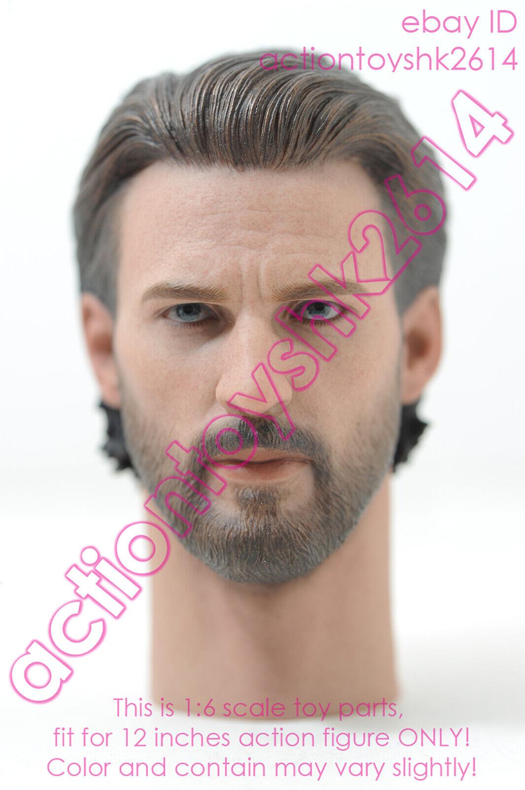 1 6 Hot Toys MMS480 Avengers Infinity War Captain America - head sculpt